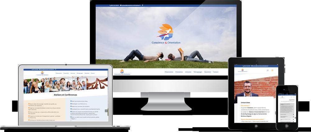 Les 2 Frangines : Réalisation du site Internet de Conscience & Orientation