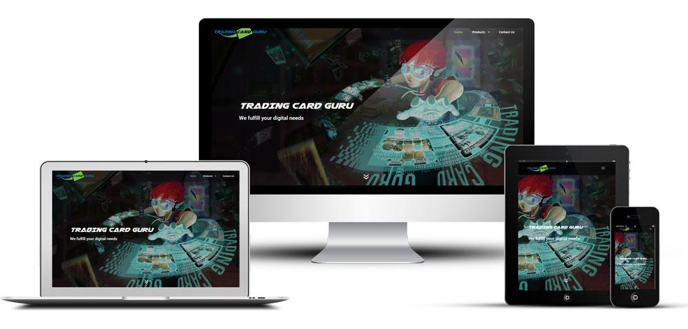 Réalisation du site Internet Trading Card Guru